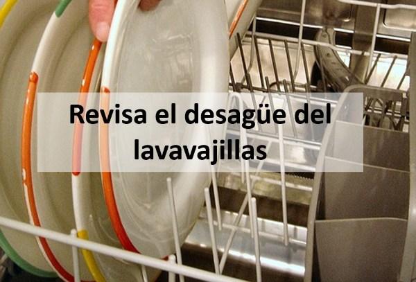 Revisa el desagüe del lavavajillas